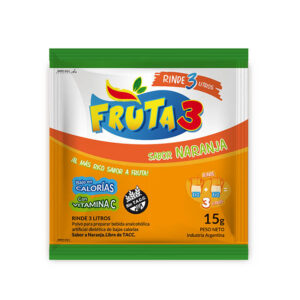 Jugo En Polvo Naranja Fruta 3-Caja X 18 U