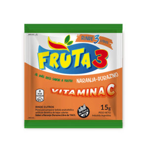 Jugo En Polvo Naranja-Durazno Fruta 3 – Caja X 18 U