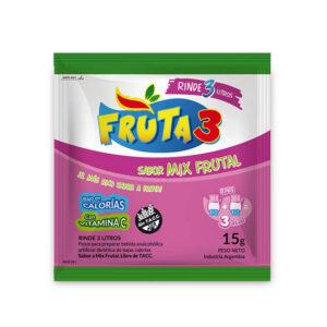 Jugo En Polvo Mix De Frutas Fruta 3  – Caja X 18 U