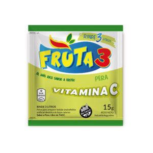 Jugo En Polvo Pera Fruta 3  – Caja X 18 U