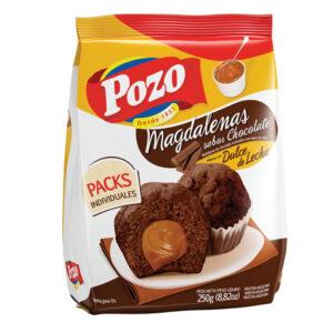 Magdalenas De Chocolate Rellenas Con Dulce De Leche Pozo X 220Grs X 10 U