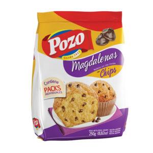 Magdalenas Con Chips De Chocolate Pozo X 220Grs X 10 U