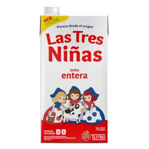 Leche Entera Las Tres Niñas 1 Lt x 12U