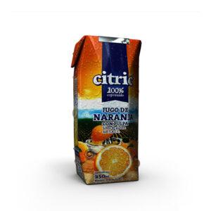 Jugo De Naranja 100% Exprimido Citric X 250Ml