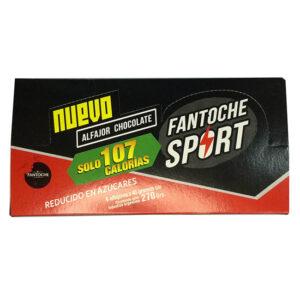 Alfajor Chocolate Fantoche Sport- Estuche Exhibidor X 6U