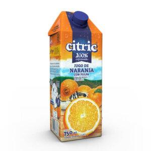Jugo De Naranja 100% Exprimido Citric X 750Ml